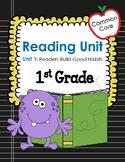 Common Core 1st Grade Reading Mini Lessons Unit 1:  Readers Build Good Habits