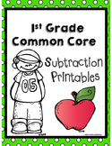 Common Core 1st Grade Subtraction Printables