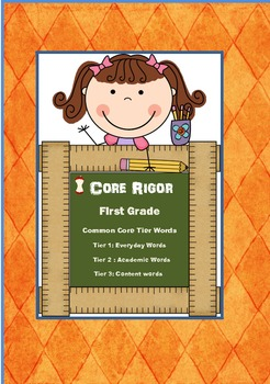 1st Grade  Tier 1, 2, and 3 Word Wall Cards