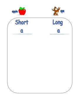 Common Core 1st Grade Vowel Word Sort