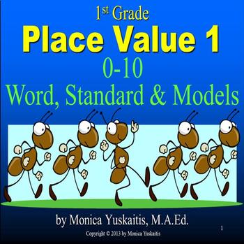 Common Core 1st - Place Value 1 - 0-10 Word, Standard, Pla