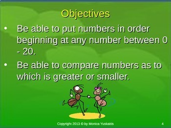 Common Core 1st - Place Value 3 - 1-20 Comparing Numbers & Order