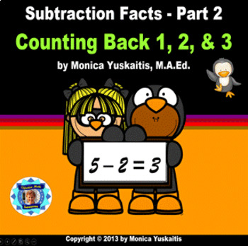 Common Core 1st - Subtraction Facts 2 - Counting Back 1, 2, & 3