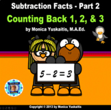 1st Grade Subtraction Facts 2 - Counting Back 1, 2, & 3 Po