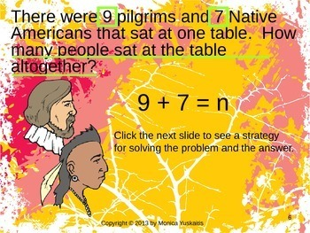 Common Core 1st - Thanksgiving Word Problems (+ & -)