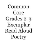 Common Core 2-3 Exemplar Read Aloud Poetry