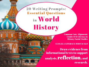 Common Core: 20 Writing Prompts on Essential Questions in World History