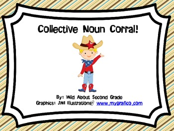 Common Core (L.2.1 a) - Collective Noun Corral- Literacy Centers/Game/Worksheets