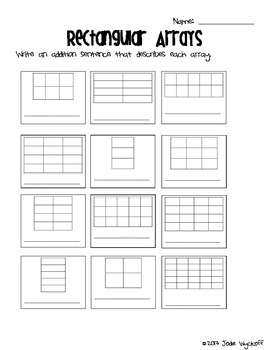 Rectangular Arrays: Beginning Multiplication Mini-Unit