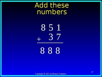 Common Core 2nd Grade Addition 1 - Adding 3 Digits Numbers with no Regrouping