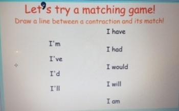 2nd Grade Common Core Contractions 2.L.2c SMARTBoard