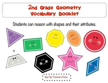 2nd Grade Common Core Geometry Vocabulary Booklet