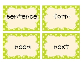 Common Core 2nd Grade High Frequency Words Flashcards