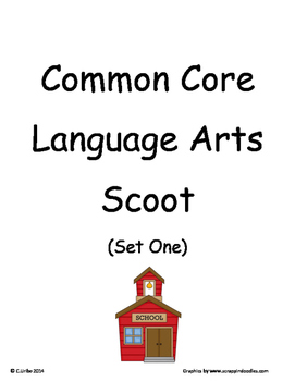 Common Core 2nd Grade Language Arts ELA Set One ~ Scoot Game ~ Task Cards
