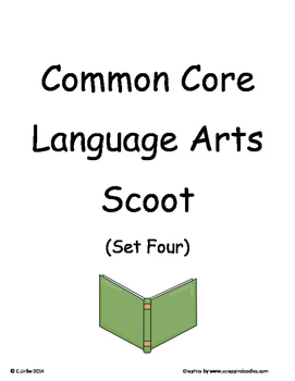 Common Core 2nd Grade Language Arts ELA Set Four~ Scoot Game ~ Task Cards