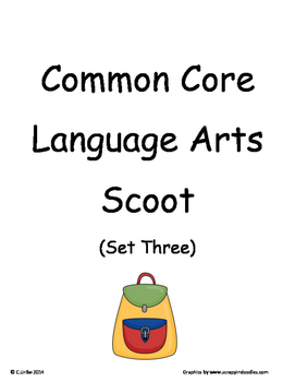 Common Core 2nd Grade Language Arts ELA Set Three ~ Scoot