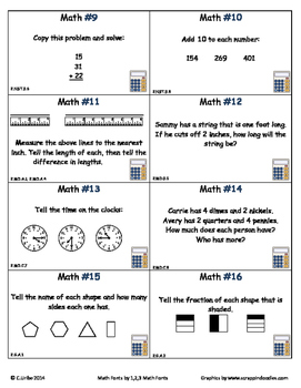 Common Core 2nd Grade Math Set One ~ Scoot Game ~ Task Cards