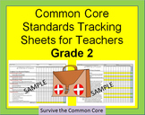 Tracking Sheets (EDITABLE) Common Core 2nd Grade Math by Domain/Cluster/Standard