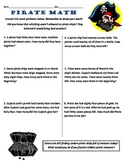 Common Core 2nd Grade Math Word Problems -- Pirate Themed