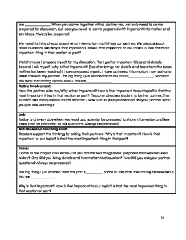 Common Core 2nd Grade Reading Mini Lessons Unit 8: Science Topic Experts