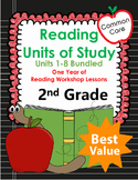 Common Core 2nd Grade Reading Mini Lessons for the Whole Year!  8 Units