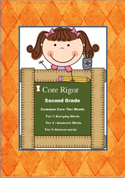 2nd Grade Tier 1, 2, and 3 Word Wall Word Cards