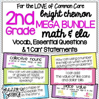 Common Core: 2nd Grade XL Pack {Chevron}