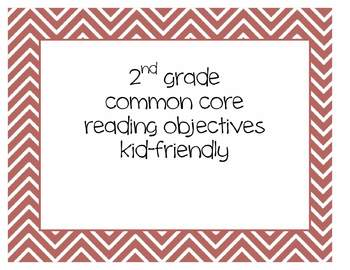 Common Core 2nd grade reading indicator posters