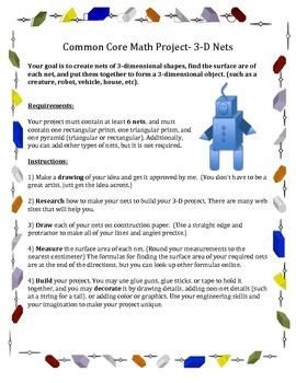 Common Core 3-D Net Project