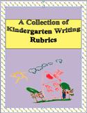 Kindergarten Writing Rubrics FREEBIE/ CCSS /5 formats to c