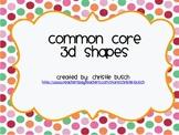 Common Core 3D Shape Posters