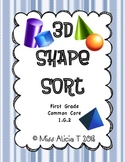 Common Core 3D Shape Sort