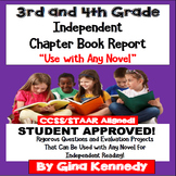 Chapter Book Report for 3rd and 4th Graders! Use With Any Novel!