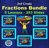 3rd Grade Fractions Bundle - 5 Powerpoint Lessons - 253 Slides