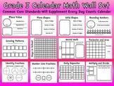 Common Core 3rd Grade Calendar Wall Set-Supplement Every Day Calendar