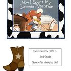 Common Core 3rd Grade Character Study- How I Spent My Summ