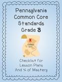 Common Core 3rd Grade Checklist