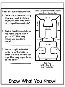 Common Core 3rd Grade- Division Interactive Flipbook/Assessment