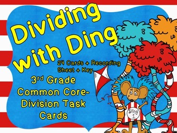 Common Core 3rd Grade-Division with Ding Task Cards