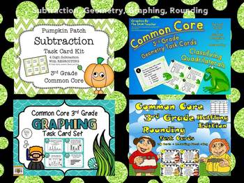 Common Core 3rd Grade- Expanding Math Task Card Bundle-51 Sets = 1 Great Price!