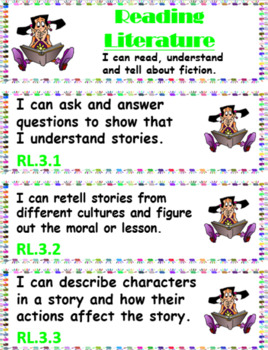 """Common Core 3rd Grade """"I can…"""" Statements for ELA & Math (1/4 page) + Bonuses!"""