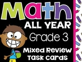Common Core 3rd Grade- Math All Year Task Cards-End of Year