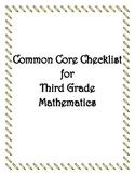 Common Core: 3rd Grade Math Checklist