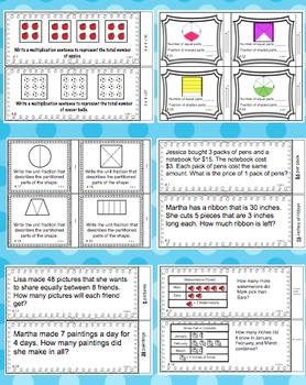 Math Task Cards - 3rd Grade