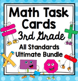 3rd Grade Math Task Cards All Standards Bundle