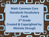 Common Core 3rd Grade Math Vocabulary Cards