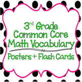 Common Core 3rd Grade Mathematics Vocabulary Posters & Flash Cards Bundle
