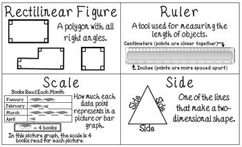 Common Core 3rd Grade Measurement & Data Vocabulary Posters & Flash Cards