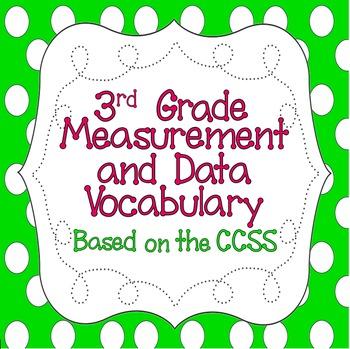 Common Core 3rd Grade Measurement & Data Vocabulary Poster