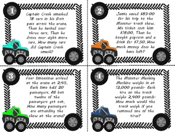 Common Core 3rd Grade-Mixed Word Problem Task Card Center